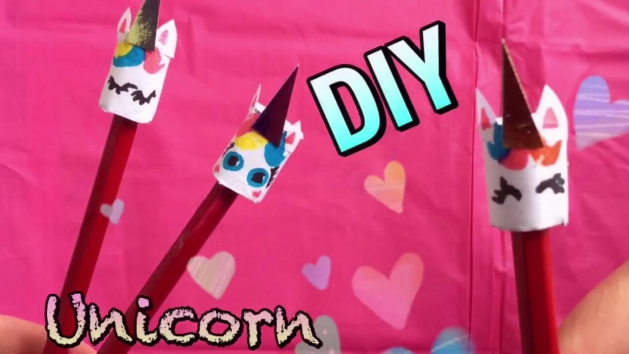 Diy lavoretti matita unicorno super facili back to for Youtube lavoretti per bambini