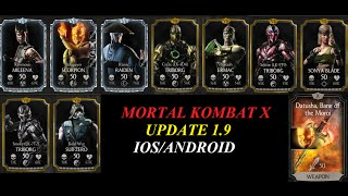 MORTAL KOMBAT X UNRELEASED PLAYERS & EQUIPMENT IOS/ANDROID UPDATE 1.9(MORTAL KOMBAT X UNRELEASED PLAYERS & EQUIPMENT IOS/ANDROID UPDATE 1.9 CHECK THIS VIDEO ON HOW TO UNLOCK UNRELEASED ..., 2016-09-08T03:33:40.000Z)