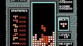 Tetris (nintendo) - Nintendo NES - Surviving 25 lines of Level 19 - User video