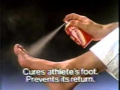 Footwork athlete's foot medication ad from 1985