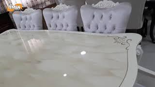 طاولة سفرة كلاسيك تركي + 6 كراسي تمتاز بالفخامة والجودة العالية