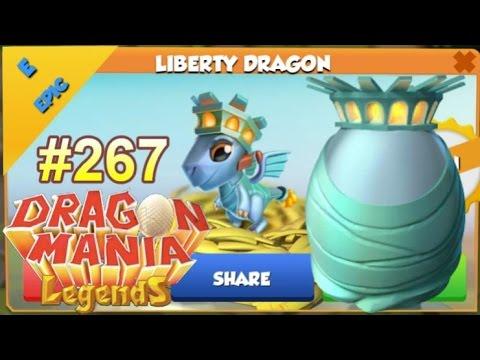 Liberty Dragon Hatching Dragon Of The Week Dragon Mania Legends