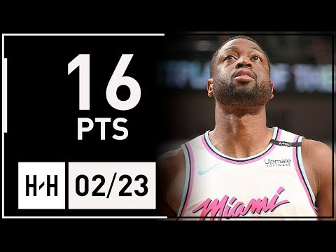 Dwyane Wade Full Highlights Heat vs Pelicans (2018.02.23) - 16 Points off the Bench!