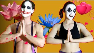 Joker and Harley Quinn: COUPLES YOGA | in Real Life!