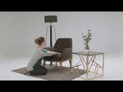 Beca Armchair with Wooden Legs