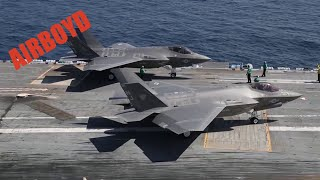 F-35C Lands And Launches - USS Abraham Lincoln (CVN-72)