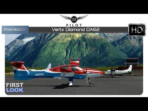 Prepar3D v4 | Vertx Diamond DA62 | First Look - YouTube