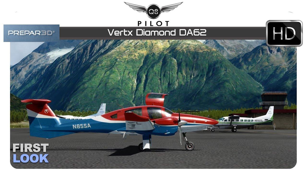 Prepar3D v4 | Vertx Diamond DA62 | First Look