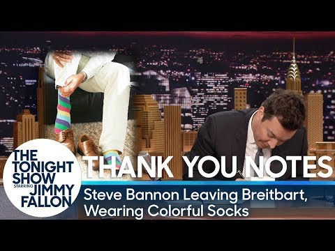Download Youtube: Thank You Notes: Steve Bannon Leaving Breitbart, Wearing Colorful Socks