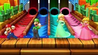 Mario Party Star Rush MiniGames - Mario Vs Luigi Vs Rosalina Vs Peach (Master Difficulty)