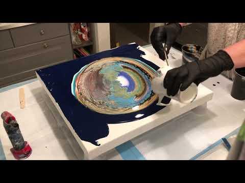 SOUND WAVES/ Acrylic pour/fluid pour