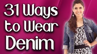 31 Ways to Wear Denim Jacket (English Subtitles) - Ghazal Siddique
