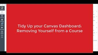 Tidy Up Your Dashboard: Removing Yourself from a Course