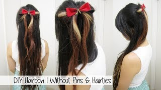 Holiday Hairbow (No bobby pins or hairties) / 100K subscribers GIVEAWAY