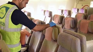 Cleaning an Emirates Aircraft | Emirates Airline