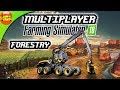 Farming Simulator 18 gameplay #120- 3 Player Multiplayer forestry, fs 18 android ios