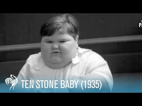 Ten Stone Baby...Teased With Chocolate (1935) | British Pathé