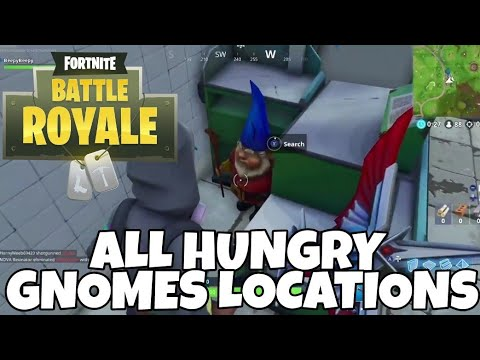 ALL HUNGRY GNOMES LOCATIONS W/ Map! Fortnite Battle Royale (Nintendo Switch)