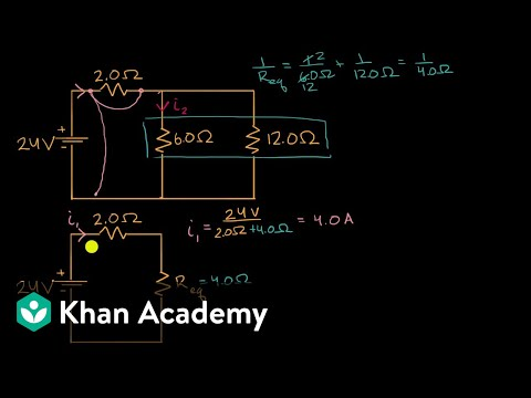 current-through-resistor-in-parallel:-worked-example-|-dc-circuits-|-ap-physics-1-|-khan-academy