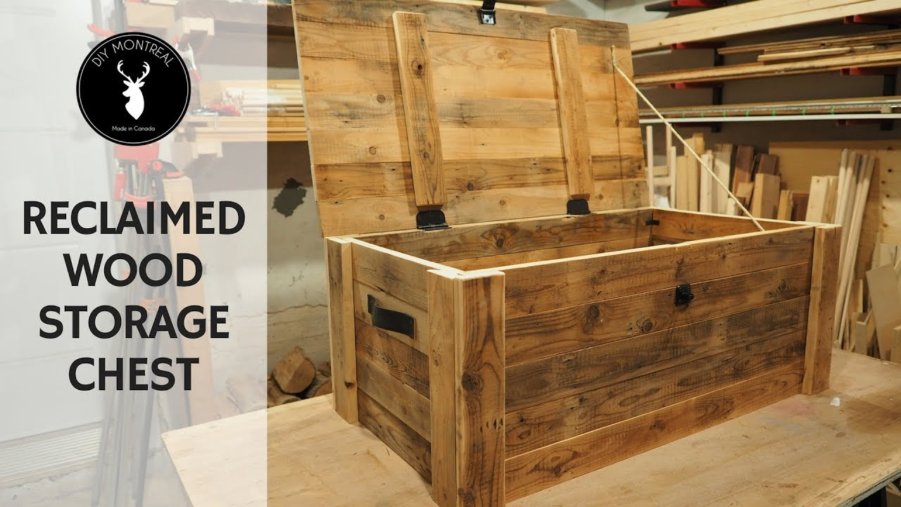 Build A Storage Chest From Reclaimed Wood Youtube