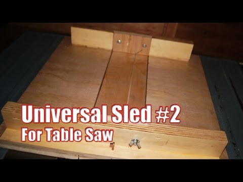 Universal Table Saw Sled #2: Making Sled Inserts