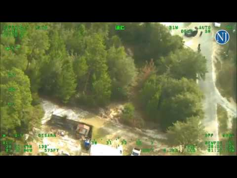 Volusia County sheriff's helicopter video shows pursuit of shooting suspect