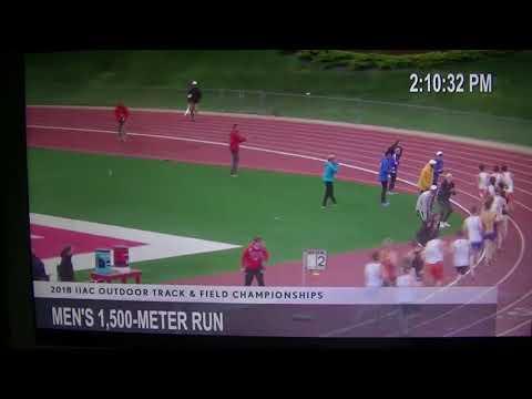 2018 IIAC Outdoor Championships- Mens 1500 Meter Run