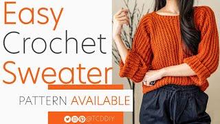 Easy Crochet Sweater | Pattern & Tutorial DIY