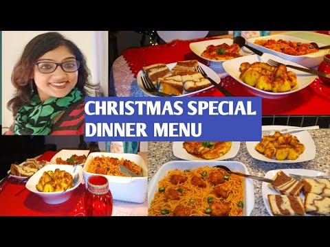 3 Easy  Recipes For Christmas Dinner 2018|| #christmasdinneridea2018|| #traditionalchristmasmenu ||
