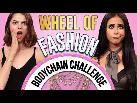 BODY CHAIN CHALLENGE?! Wheel of Fashion w/ Amber Scholl & Allie Marie Evans