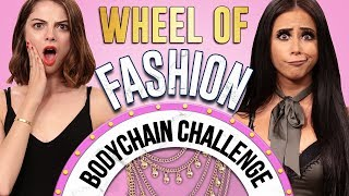 BODY CHAIN CHALLENGE?! Wheel of Fashion w/ Amber Scholl & Allie Marie Evans