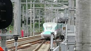 北海道新幹線・奥津軽いまべつ駅にて 入線するはやて93号