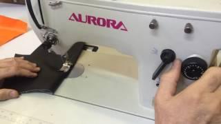 видео Прямострочная швейная машина Aurora A-5200-D3