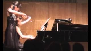 César Franck Sonata violin and piano, Tamila Kharambura & Inês Andrade.avi