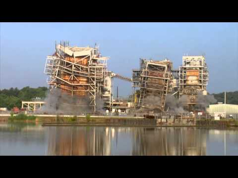 H.F. Lee PLant Boiler Implosion June 20, 2014