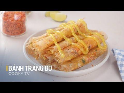 Cách làm BÁNH TRÁNG BƠ | Món ăn vặt  Sài Thành – Ẩm thực Việt | Huong dan – Cooky TV