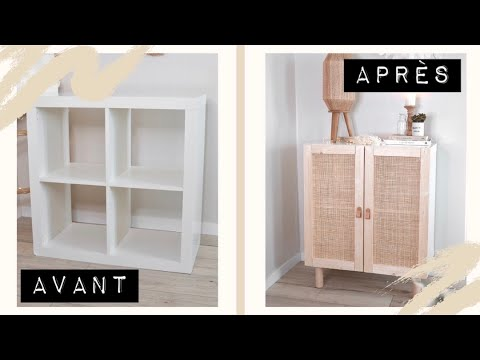 je transforme un meuble ikea en meuble cannage