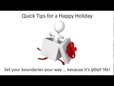 Holiday Tip 3, Minimize Holiday Stress