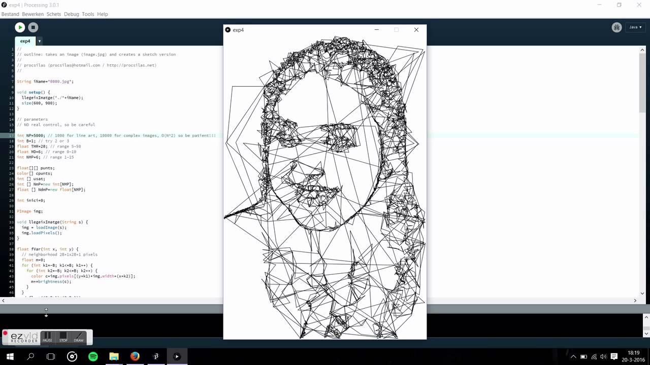 Processing sketch outline