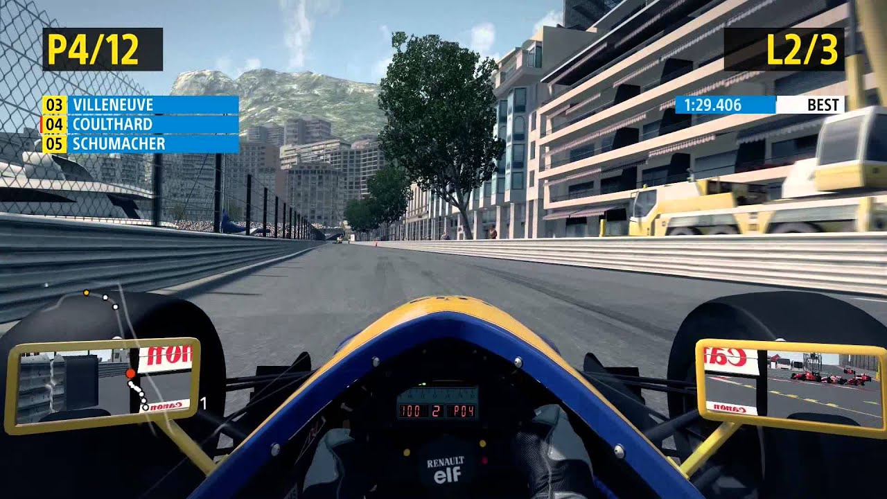F1 Monaco Live F1 2013 Classics Gameplay Pc Cockpit View Williams Fw14b