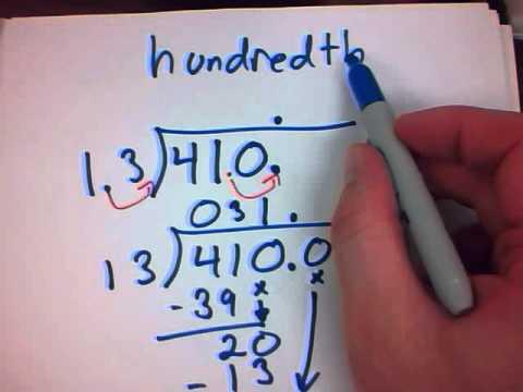 Mr. v teaching math - Decimals 13 Dividing Decimals with rounding
