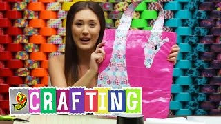 Duck Tape Crafts: How To Make A Giraffe Tote Bag With Laurdiy