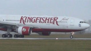 ✈ Kingfisher Airlines | A330 | Landing @ Hamburg Airport