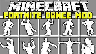 Minecraft FORTNITE DANCE MOD / FLOSS, ORANGE JUSTICE, INFINITE DAB !! Minecraft Mods