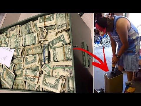 Мужчина нашел в сейфе 7,5 миллионов долларов, который он купил за 500 долларов