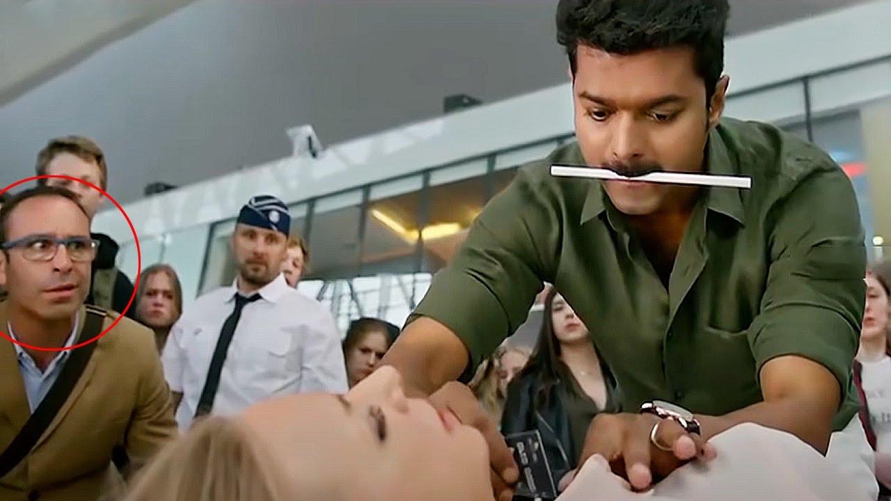 Download Vijay Thalapathy Recent Blockbuster Movie Airport Scene | Vijay Thalapathy | Cinema House