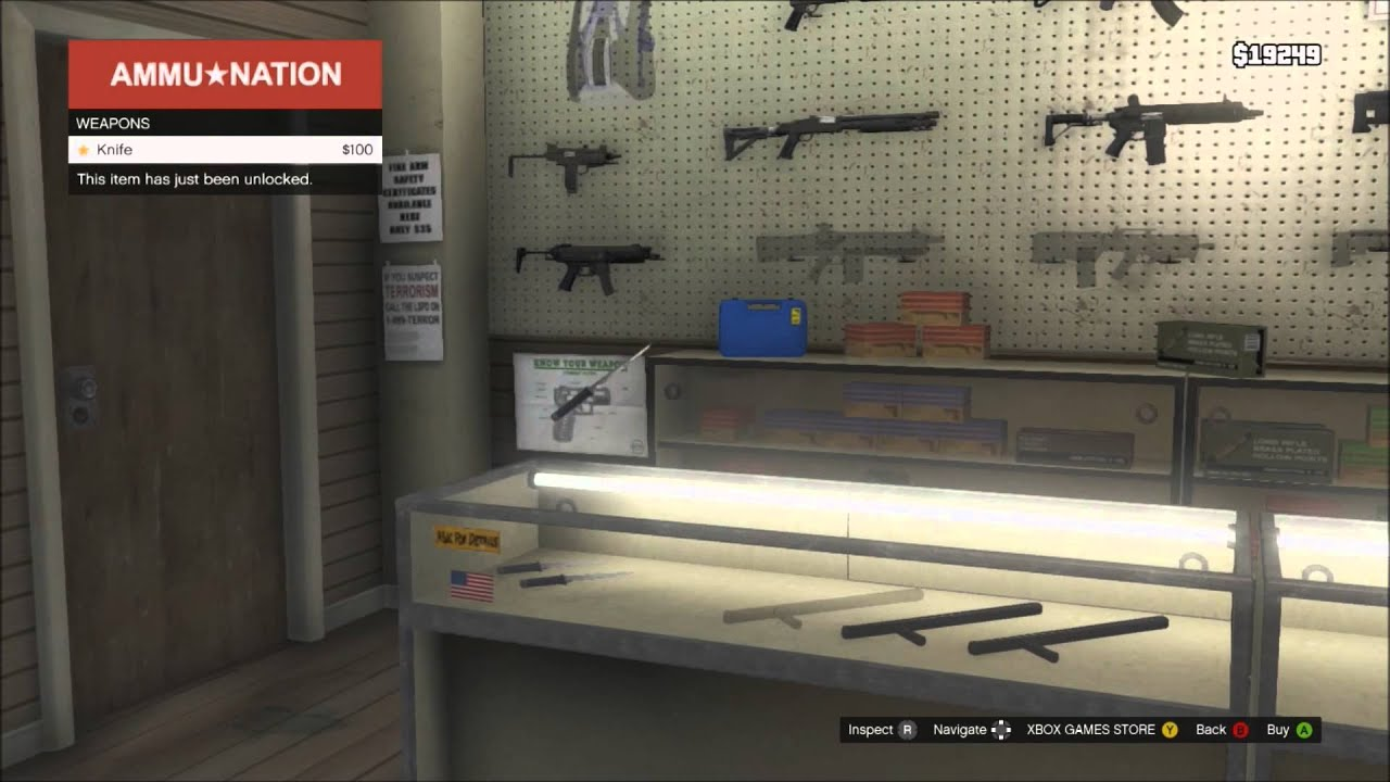 GTA V - Gun Shop - YouTube