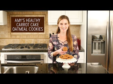 Healthy Carrot Cake Oatmeal Cookies | Amy's Healthy Baking