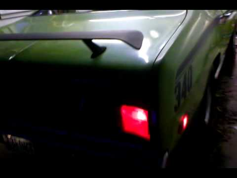 73 duster 340 sixpack rev  YouTube