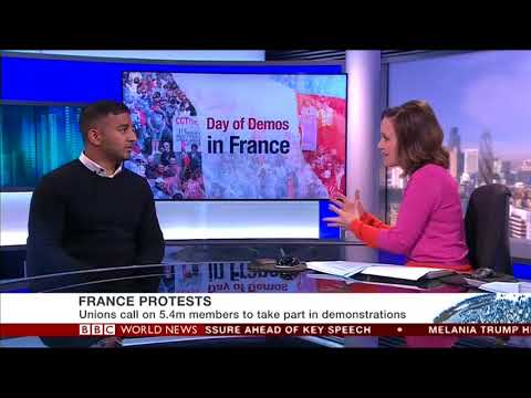BBC Business French Strikes & High Unemployment Figures